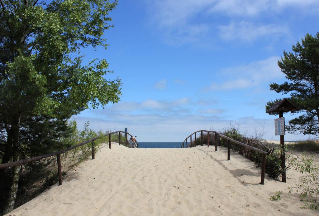 Wejście na plażę